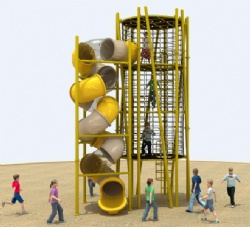 climbing rope playground equipment for theme park