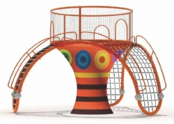 rainbow net climbing unit for kids play centre