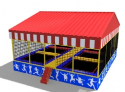 commercial trampoline park with ASTM certificate