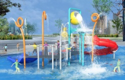 Water playground stainless steel for swimming pool