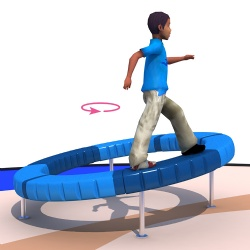 latest spinning circle play toy for playground