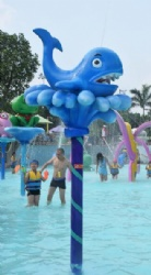 Water play features for swimming pool