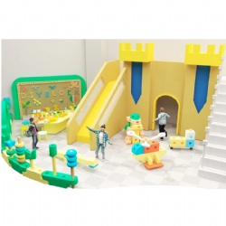 toddlers soft play area with big foam building blocks