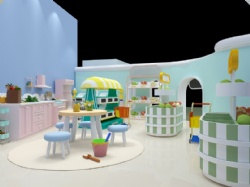baby play room with kichen & supermarket